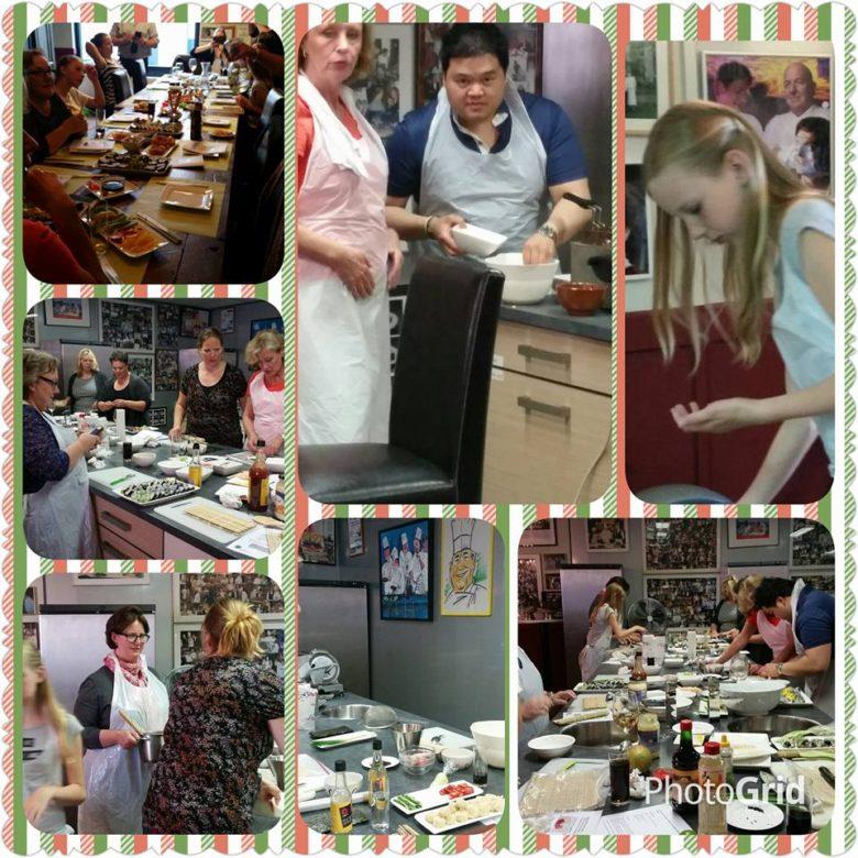 Sushi workshop verzamel foto